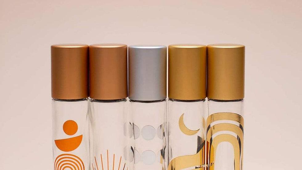 Phases   Set of Five 10ml Metallic Roller Bottles