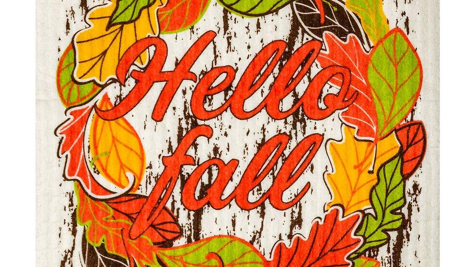 Hello Fall Swedish Cloth