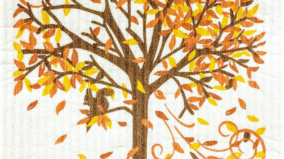 Fall Tree Swedish Cloth