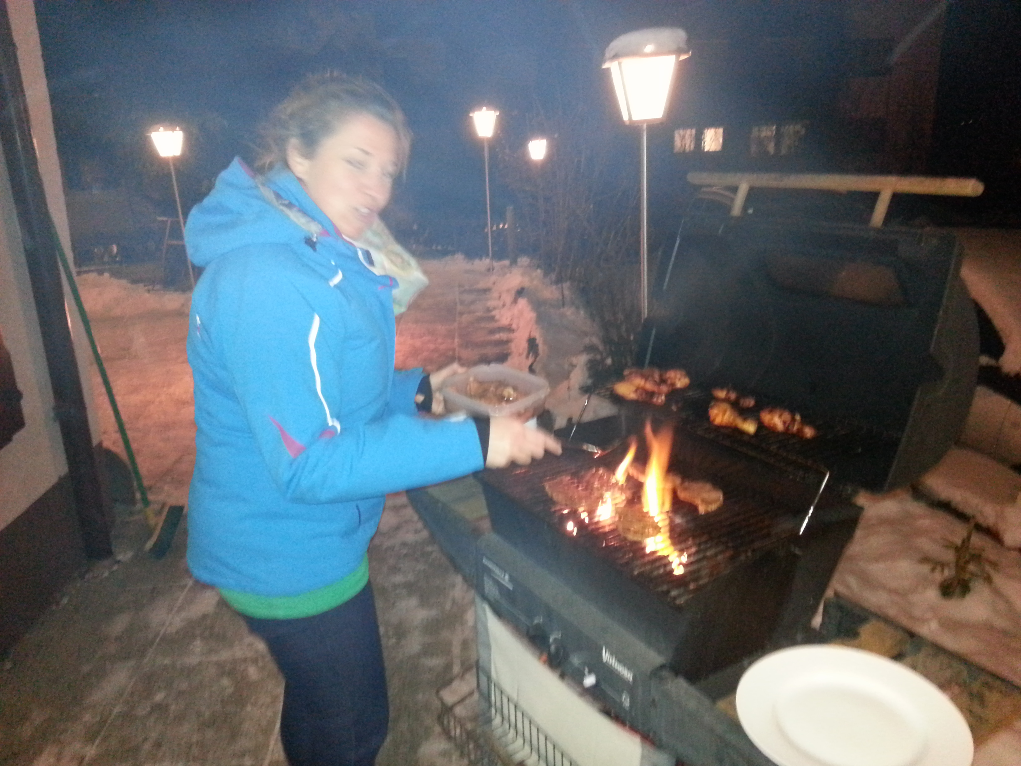 winter grill party