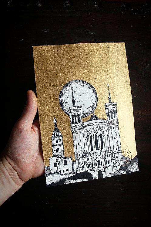 "Grande Carte "" Notre Dame de Fourvière"""