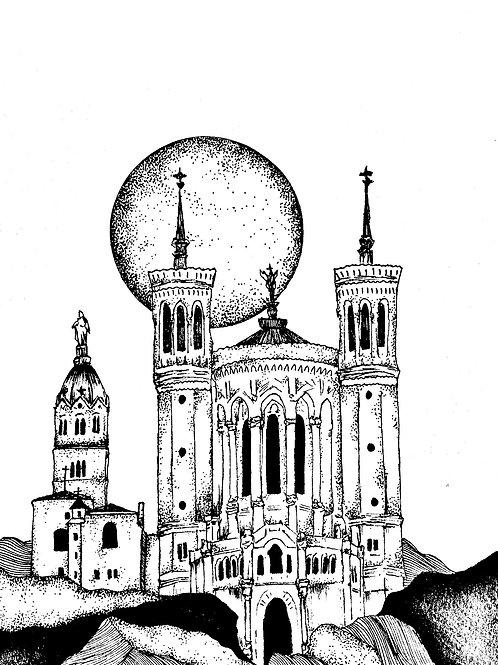 """Carte postale """" Basilique de Fourvière"""""""