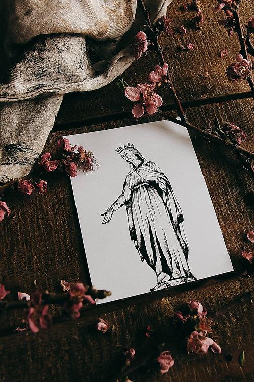 "Carte postale ""Vierge de Lyon"""