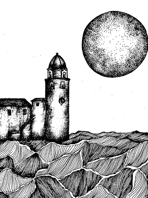 "Carte postale "" Phare de Collioure"""