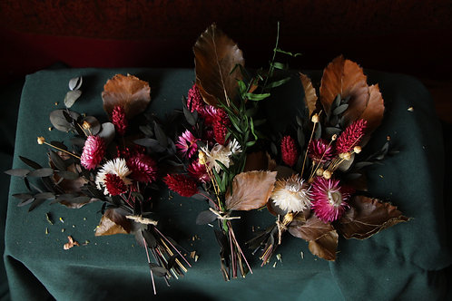 Trio de bouquets