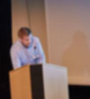 David Bernvi håller föredrag