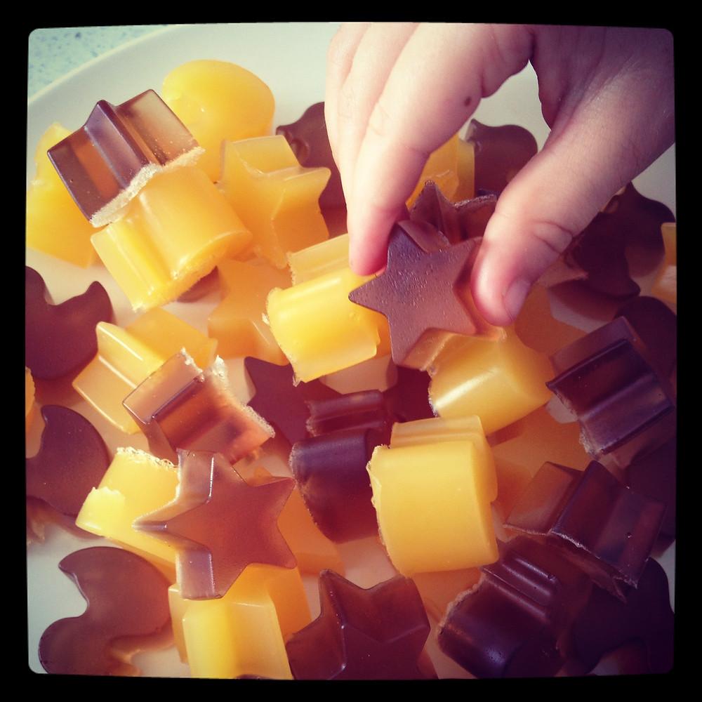 Orange and Apple Gummies