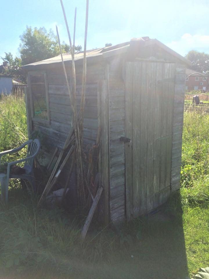 My little, brown and very rickety shed!