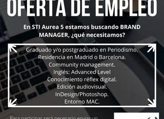 ¡Estamos buscando Brand Mánager!