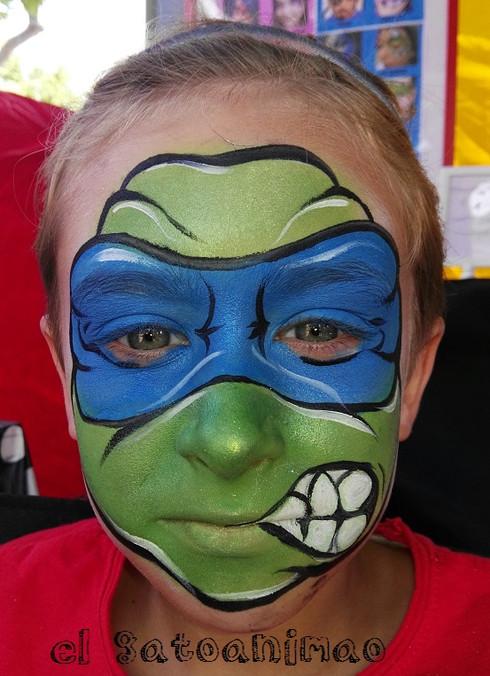 facepainting Tortuga ninja