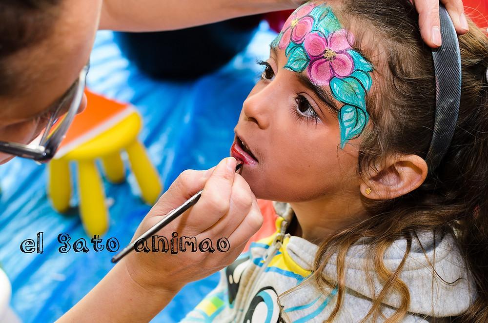 El facepainting, maquillaje infantil, make up.de elgato animao