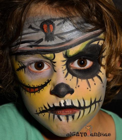 maquillaje pirata zombie