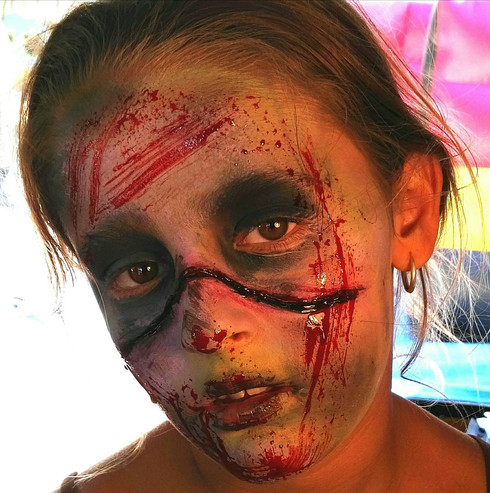 maquillaje zombie efectos