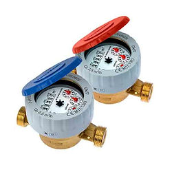 """It is a single jet meter, 360° rotating lid as well as wet dial along with the anti-fraud ring. This is available in DN15 and DN20 sizes with ½"""" and ¾"""" respectively and applicable for both cold as well as hot water up to the 50°C and up to 90°C individually. As it is permitted to MID 2004/22/CE to range R160-H/R100-V."""