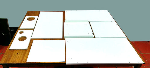 Гроубокс в разборе без отражающего покрытия.