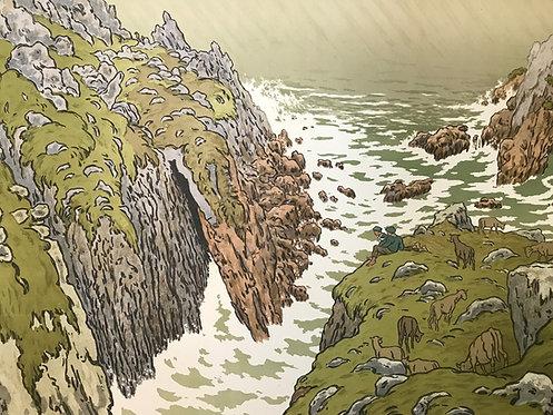 Henri Riviere la falaise