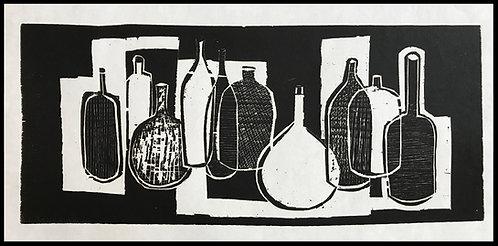 Alwin Carstens Bois Gravé Expressionisme Allemand Design 1950 gros plan