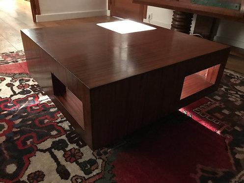 Table basse 1950 - Plaquage en palissandre