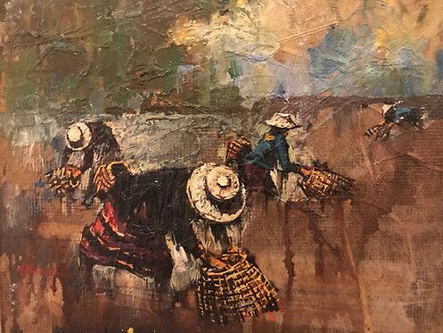 Les peintres voyageurs Rizières en indochine ou vietnam