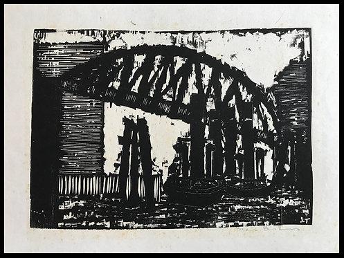 Alwin Carstens Bois Gravé Expressionisme Allemand Port