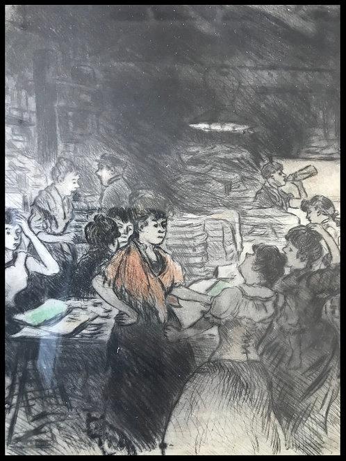 Les Suffragettes Estampe XXème