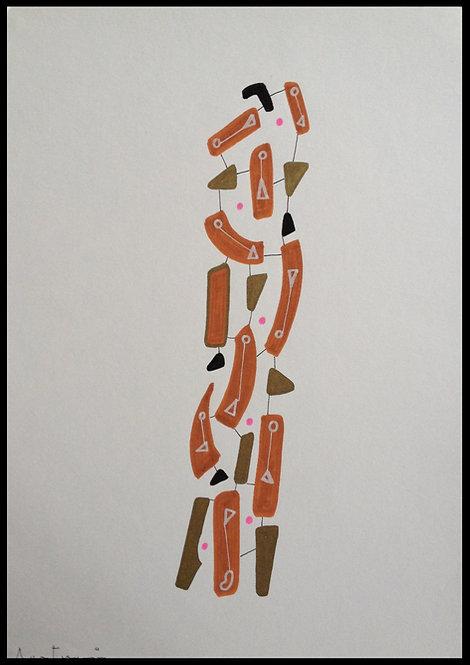 Sartorius Santiago (1963-) - Technique mixte sur papier - 06