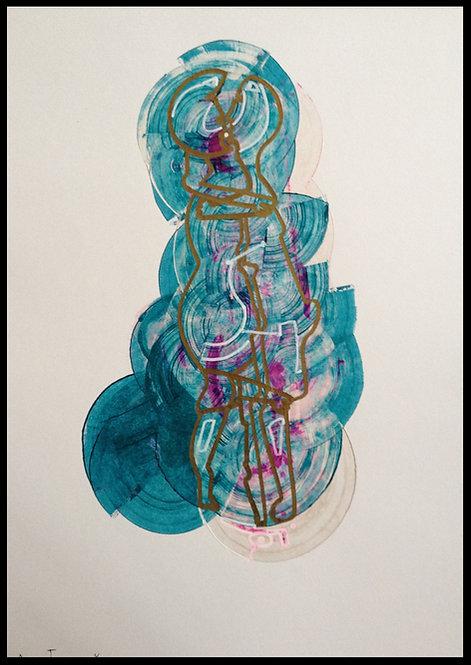 Sartorius Santiago (1963-) - Technique mixte sur papier - 01