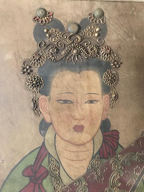Platre peint et décoré - Chine - Temple Taoiste de Yongle Gong