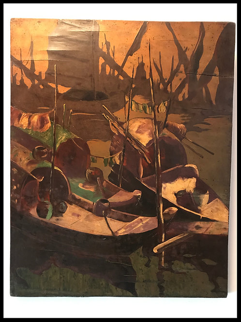 Ngo Manh Quynh (1917-1991) - Indochine - Laque sur panneau