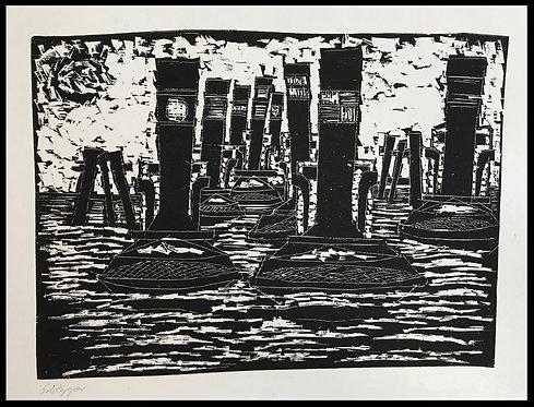 Alwin Carstens Schlepper Bois Gravé Expressionisme