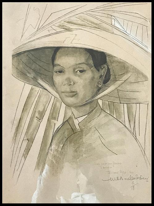 Boullard-Devé Marie-Antoinette (1890-1970) - Etude de Femme d'Annam