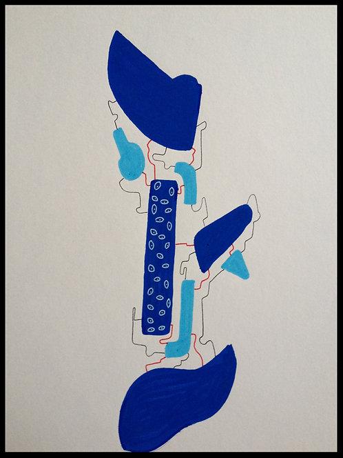 Sartorius Santiago (1963-) - Technique mixte sur papier - 03
