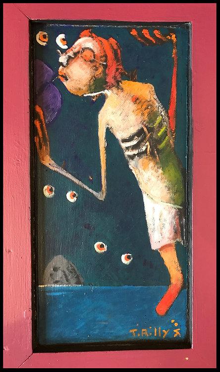 Jean Tirilly (1946-2009) - Dyptique Acrylique sur porte 2004