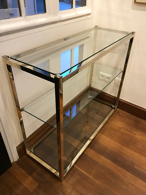 Rizzo Willy (1928-2013) - Petite etagere - Verre Chrome