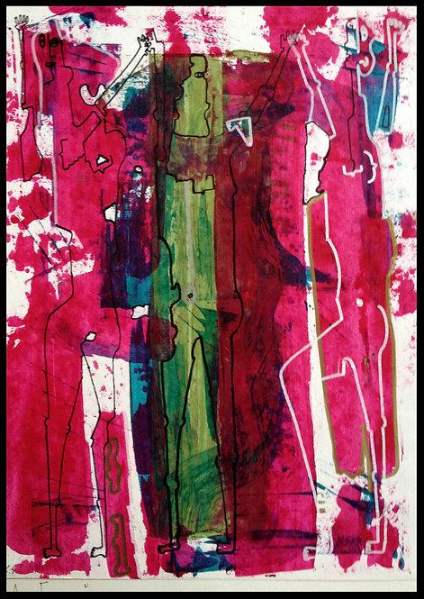 Sartorius Santiago (1963-) - Technique mixte sur papier - 02