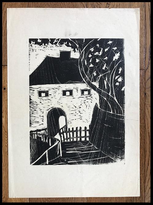 Alwin Carstens Bois Gravé Expressionisme Allemand 1950