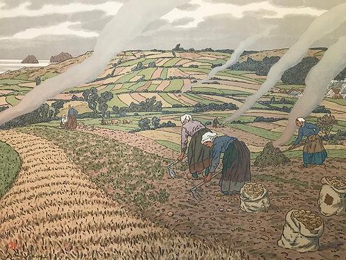 Riviere Henri (1864-1951) Travaux aux champs