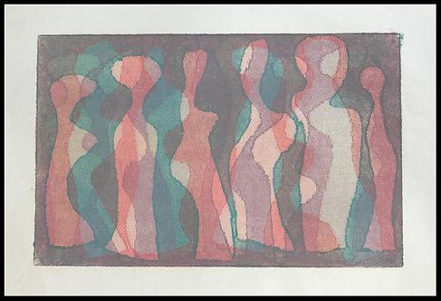Alwin Carstens Bois Gravé Expressionisme Abstraction Allemande