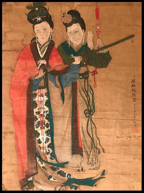 Chine Grande peinture sur soie