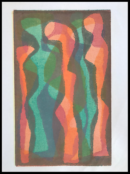 Alwin Carstens Bois Gravé Expressionisme Allemand Abstraction 1950