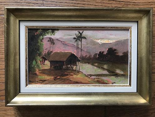 Mège Henri (1904-1984) - Paysage d'Indochine