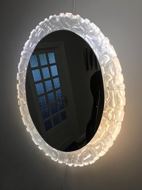 Grand miroir éclairant -  Début des années 1970