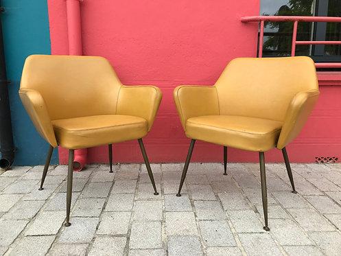 Gio Ponti (1891-1979) - Paire de fauteuils Airone - Arflex