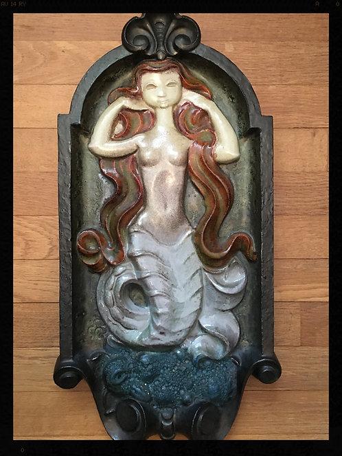 Cyril Maertens  Plaque décorative en céramique à la Sirène