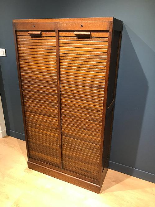 Meuble de bureau à double rouleaux - années 50