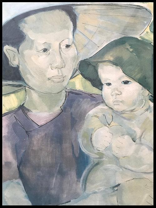 Marie-Antoinette Boullard-Devé -Mère et enfant d'Annam