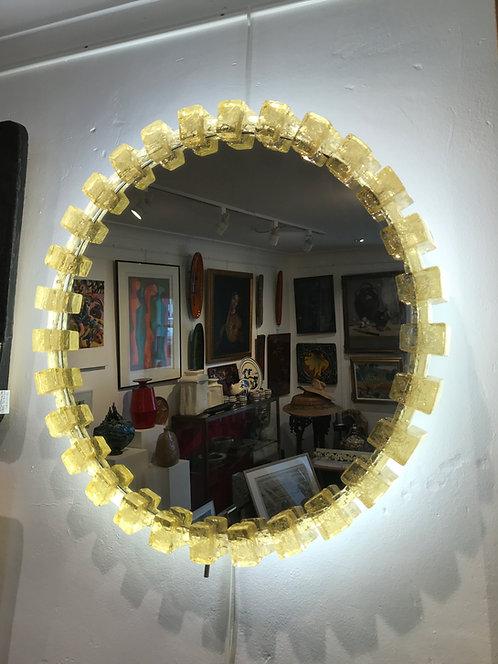 Grand miroir lumineux Circulaire - Années 1970