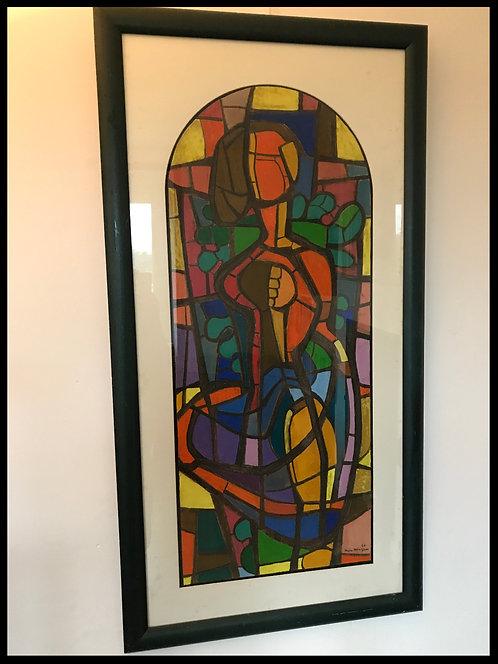 Jean Mingam (1927-1987) - Grand projet de vitrail