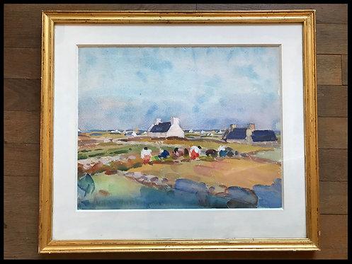 Lemordant Jean-Julien (1878-1968) - Travail des champs en Bretagne