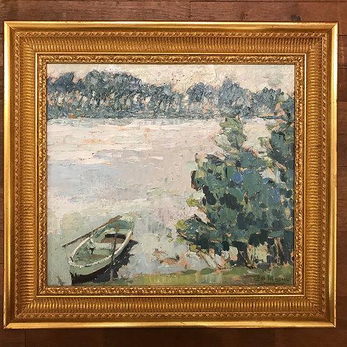 Paul-Auguste Masui (1888-1981) - Au bord du lac